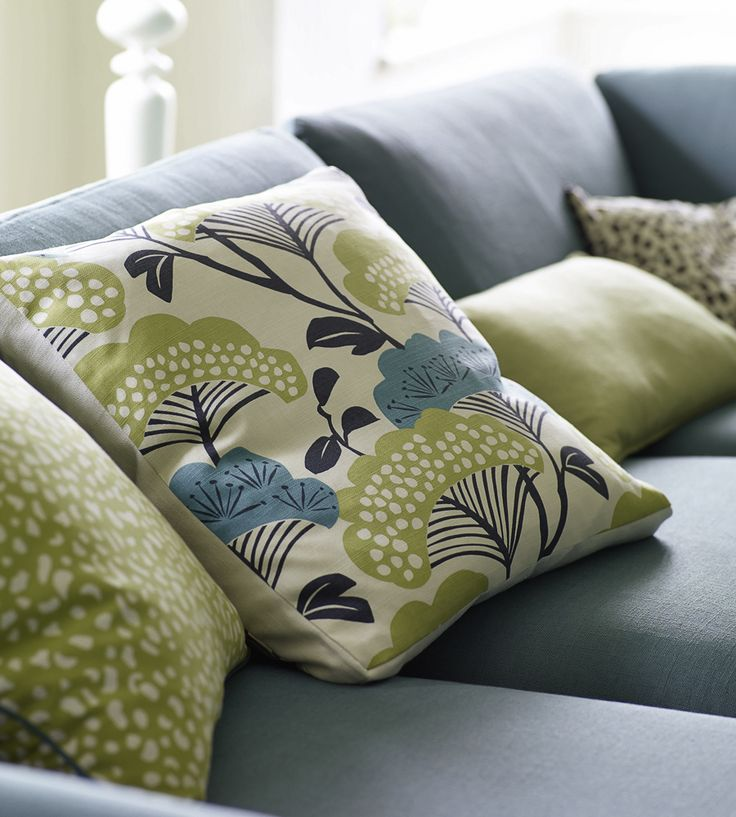 Interior Design Classic, Retro | Tree Tops Fabric by Sanderson | Jane Clayton