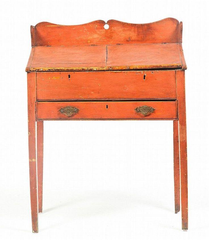 Shaped gallery over slant front with two lift - 61 Best DESKS Images On Pinterest Antique Furniture, Primitive