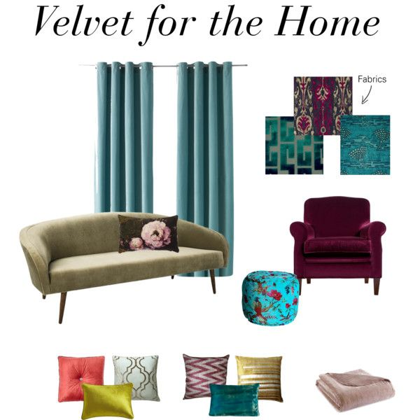 Velvet for the Home, 2015 by jennylutes on Polyvore