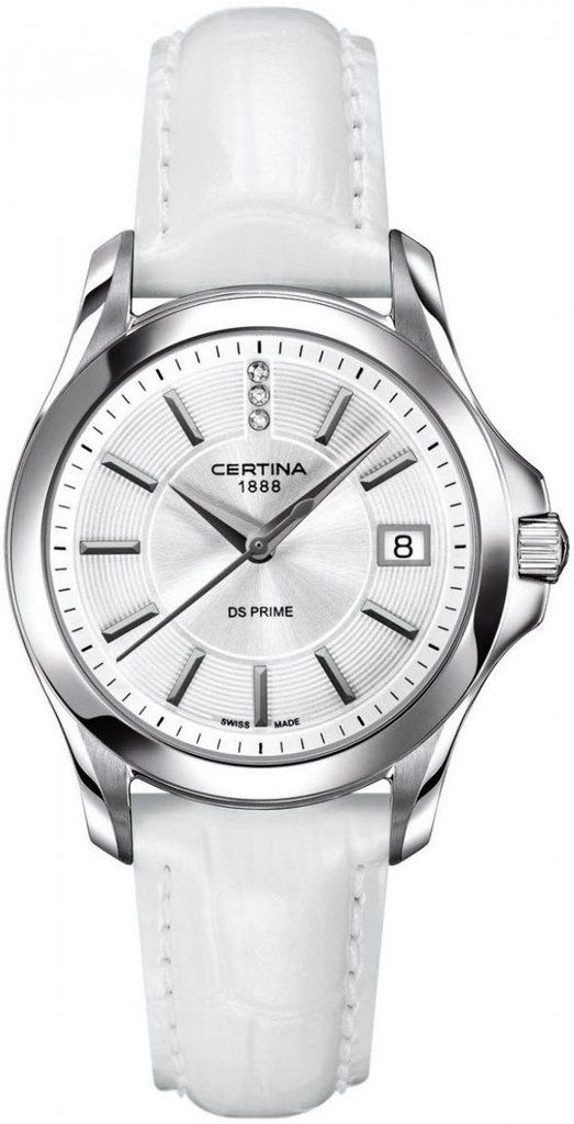 Certina Watch DS Prime Lady Round Quartz #bezel-fixed #bracelet-strap-leather #brand-certina #case-material-steel #case-width-32mm #date-yes #delivery-timescale-7-10-days #dial-colour-silver #gender-ladies #luxury #movement-quartz-battery #official-stockist-for-certina-watches #packaging-certina-watch-packaging #style-dress #subcat-ds-prime-lady #supplier-model-no-c004-210-16-036-00 #warranty-certina-official-2-year-guarantee #water-resistant-100m