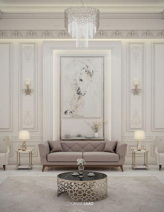 Luxury Classic Villa Interior Design On Behance Modern