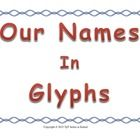 """This is a fun back to school activity.  The word glyph means """"a hieroglyphic character or symbol; a pictograph."""" This activity has students decorat..."""