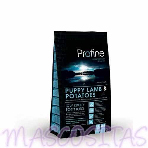 Profine Puppy Lamb, receta natural de cordero y patatas para cachorros y perros junior.