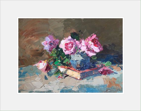 Still Life Prints, Roses Wall Art, Roses Art Print, Flowers Art, Still Life Flowers Prints,  Art Prints, Flowers Prints, Christmas Gifts
