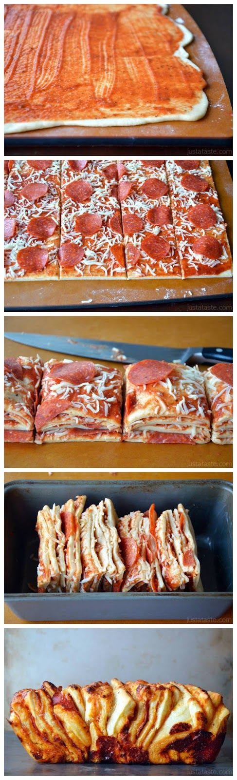 Pepperoni Pizza Pull-Apart Bread - Start Recipes