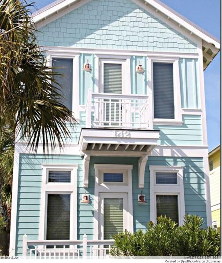 71 best beach home exterior paint colors images on - Beach house color schemes exterior ...