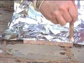 Falsa Prata Boliviana com cola quente e papel aluminio | Cantinho do Video