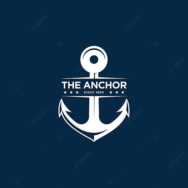 Logotipo Da Ancora Vector Logotipo Dos Retroemblemas Marinhos Com Ancora Emblem Logo Anchor Logo Vector Logo