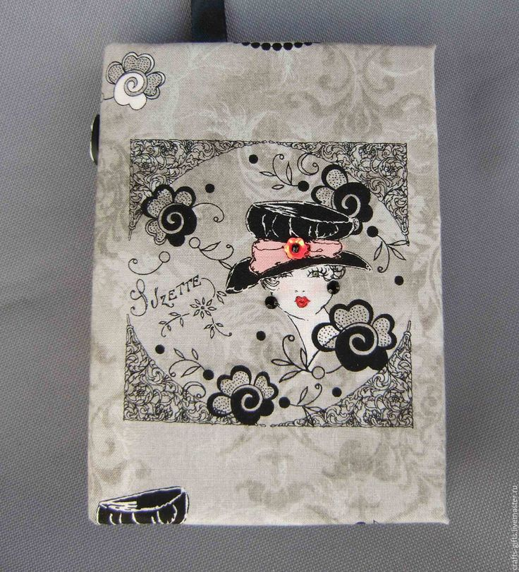 Купить Блокнот ручной работы Сюзетта А6 - серый, блокнот ручной работы, блокнот
