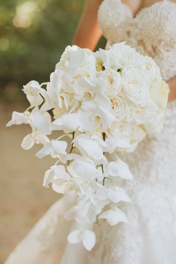 Glamorous White Orchid And Rose Bouquet Orchid Bouquet Wedding