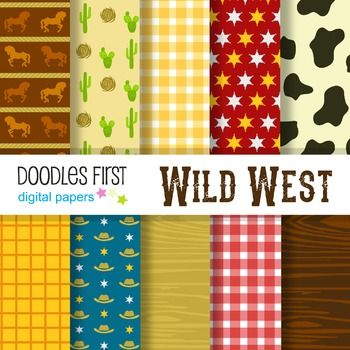 Digital Paper FREE - Wild West great for Classroom art projects