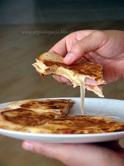 Quesadillas...looks like ham or turkey with cheese
