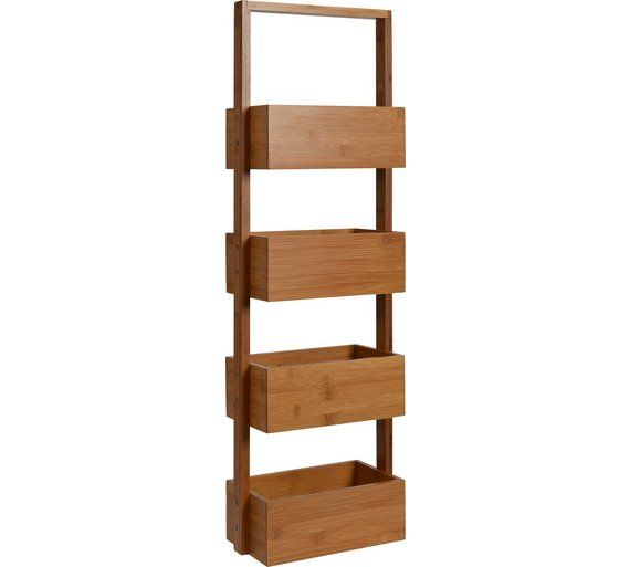 Buy Collection Freestanding Bathroom Storage Caddy - Bamboo at Argos.co.uk, visit Argos.co.uk to shop online for Bathroom shelves and storage units, Bathroom furniture, Home and garden