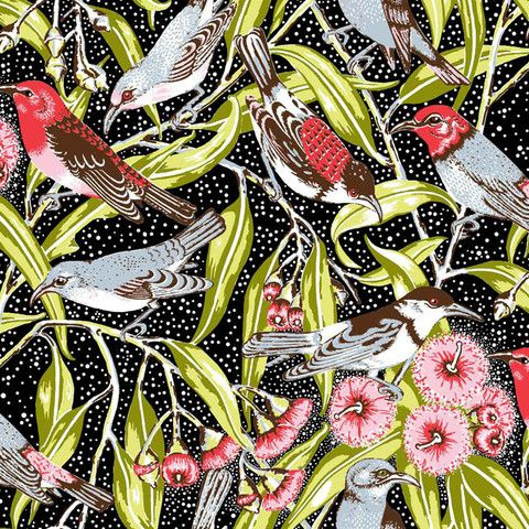 Oxford Canvas, Flowering Gum - Black