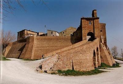 Loretello, one of nine castes of Arcevia, Ancona province., Marche region Italy