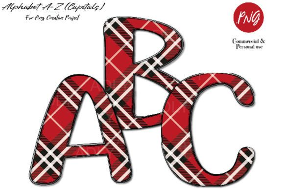 Download Free Red Plaid Alphabet Clip Art Sublimation Graphic By Adlydigital Clip Art Elephant Clip Art Alphabet PSD Mockup Template