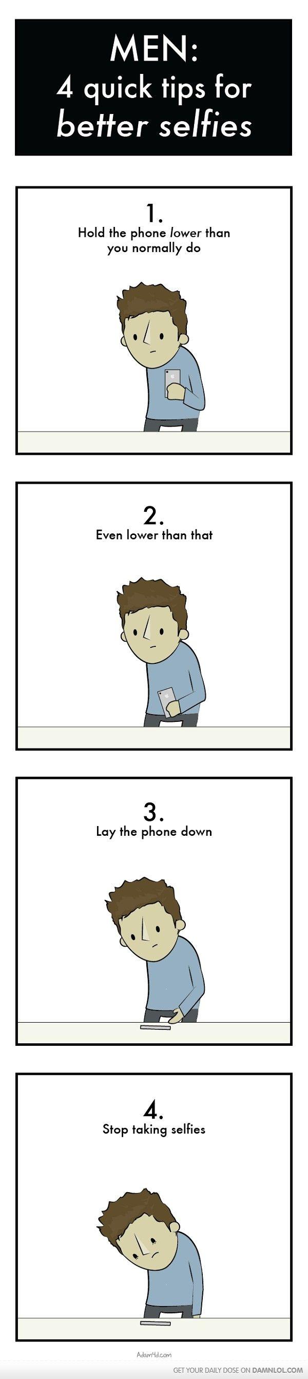 Men 4 Quick Tips For Better Selfies