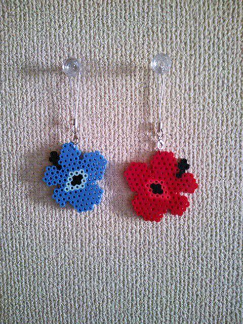 Marimekko earrings perler beads by Ayuka