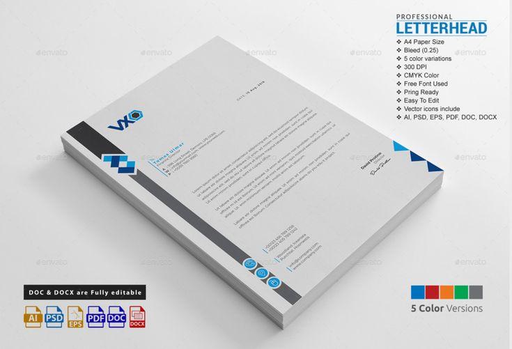 15+ Creative Professional Letterhead Template Word