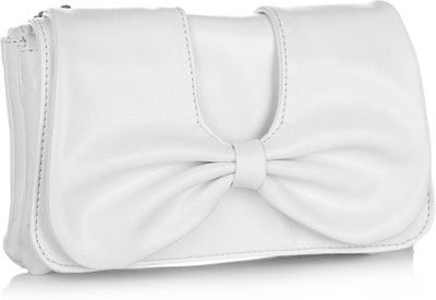 Butterflies Trendy Women Casual White PU Clutch White - Price in India | Flipkart.com