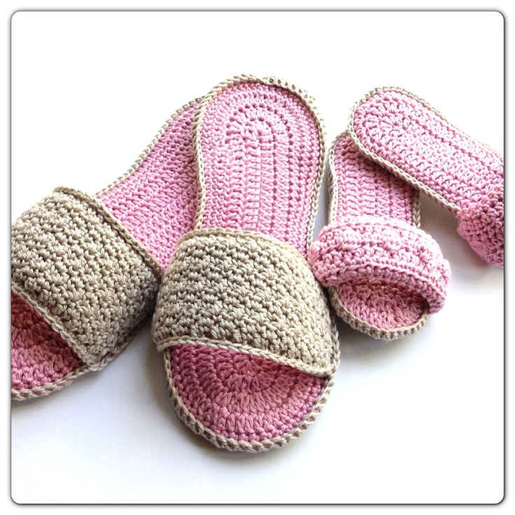 Spa Slippers Free Tutorial shoes crochet Pinterest