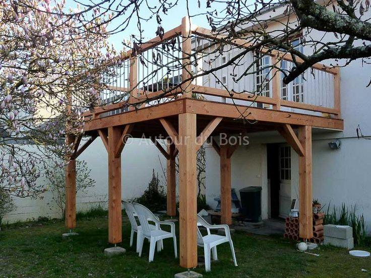 Balcon Bois, Terrasse Bois Sur Pilotis en Terrasse Surélevée