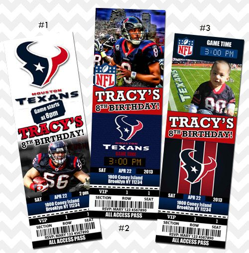 Hey, I found this really awesome Etsy listing at http://www.etsy.com/listing/153322503/houston-texans-ticket-invitation