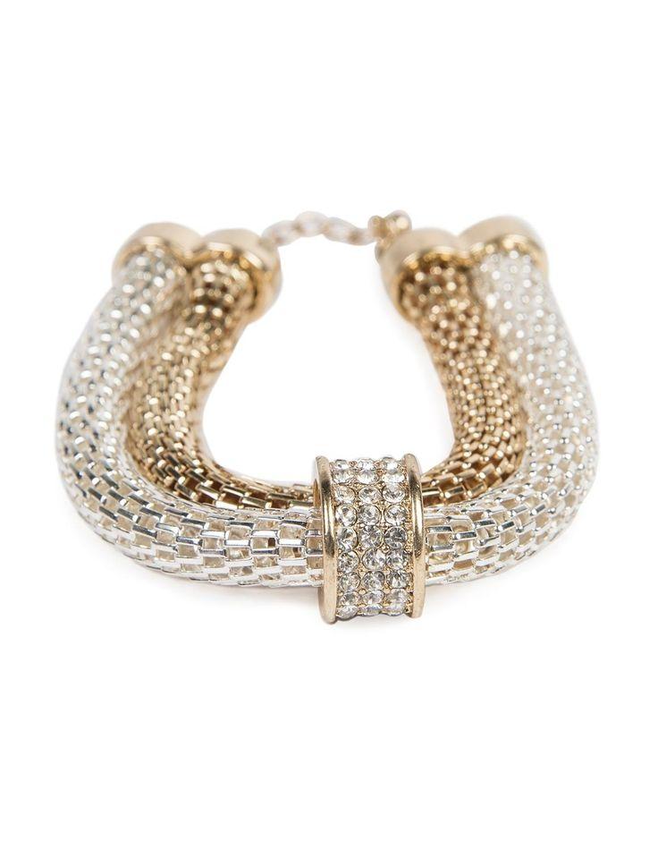 Glam Double Mesh Bracelet