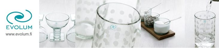 Evolum - glassware from recycled bottles