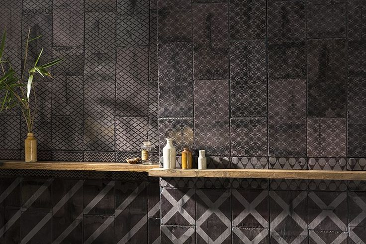This dramatic tile collection was inspired by London's Art Deco architecture