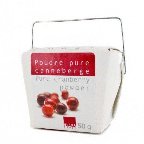 Poudre de canneberge (cranberry), composé uniquement de canneberge du Québec, pour lutter contre les infection urinaire, 50 g - Kanata