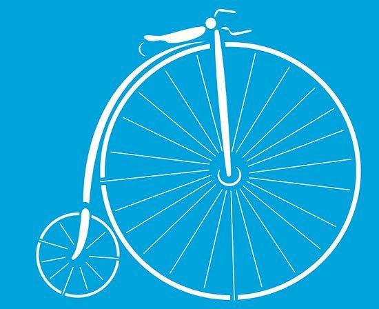 Stencil de Bicicleta 17 x 21cm - STM 120 - Stencil 17 x 21cm - Stencil ou molde vazado - Empório Janial
