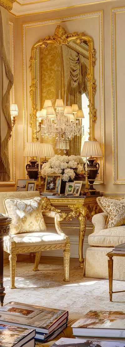 French Style Living Room OM!!! I always wanted an all white room, seeing this...I NEED THIS ROOM MORE!!! LOL