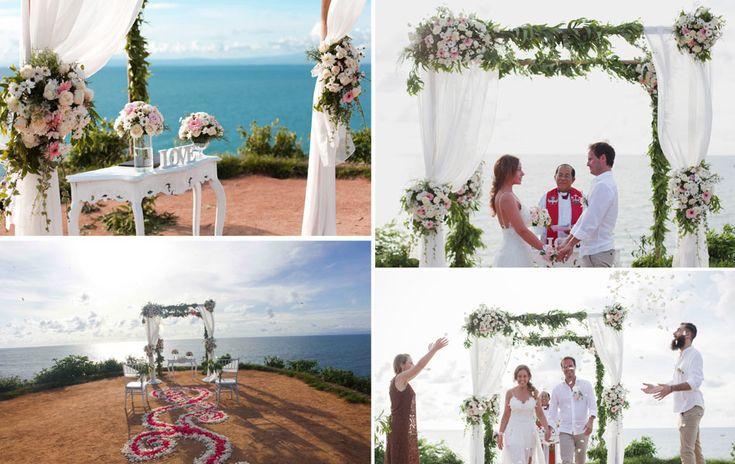 Balangan Cliff wedding in Bali Indonesia