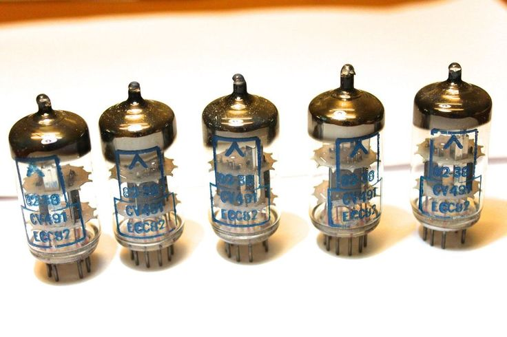 5 x CV491 (ECC82) Electron tubes, high spec.  Unusual with blue print.