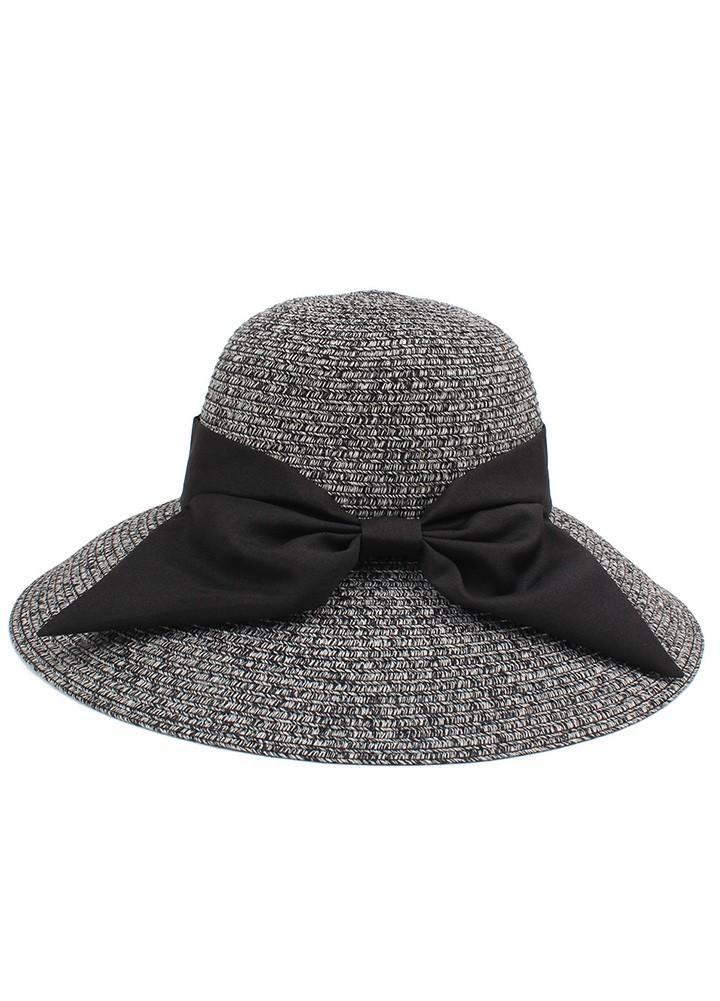 c418a12a2ade52 Fashion Women Sun Hat Big Bow Wide Brim Foldable Straw Hat Summer Beach Sun  Protection Hat Cap