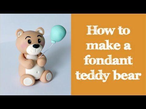 how to make a fondant teddy