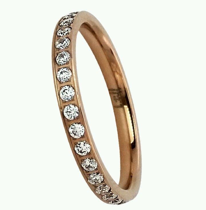 B Tiff New York Rose Gold Eternity ring size 7 women's  #BTiffNewYork #Eternity