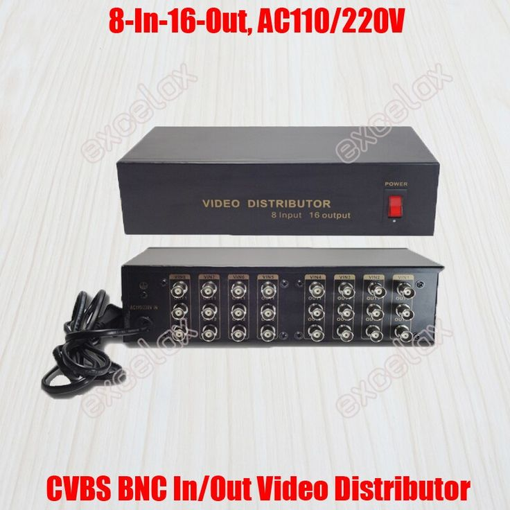 8 In 16 Out Composite Cvbs Bnc Video Distributor 8