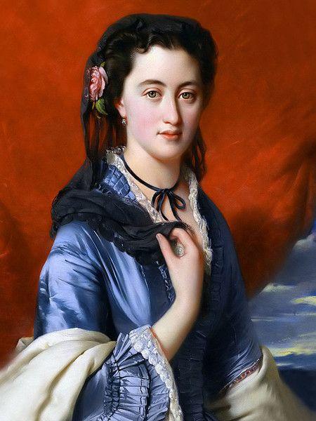 Наталья Александровна Пушкина-Дубельт, графиня Меренберг (1836 - 1913).