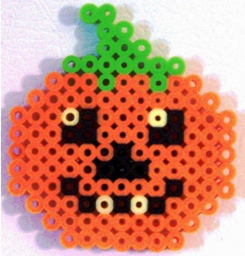 perler+pumpkins   pumpkin made out of perler beads