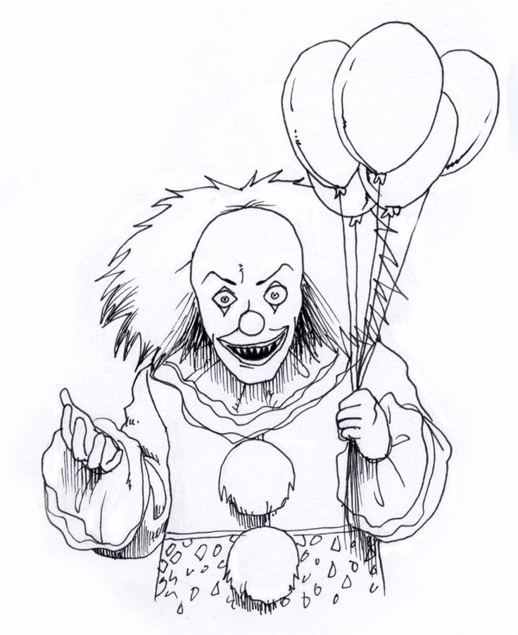 Best 25 Scary clown drawing ideas on Pinterest Creepy drawings