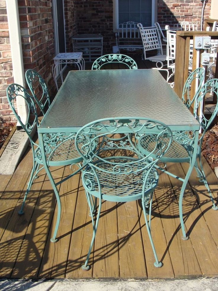 woodard orleans chantilly rose patio table and 6 chairs woodard ebay in