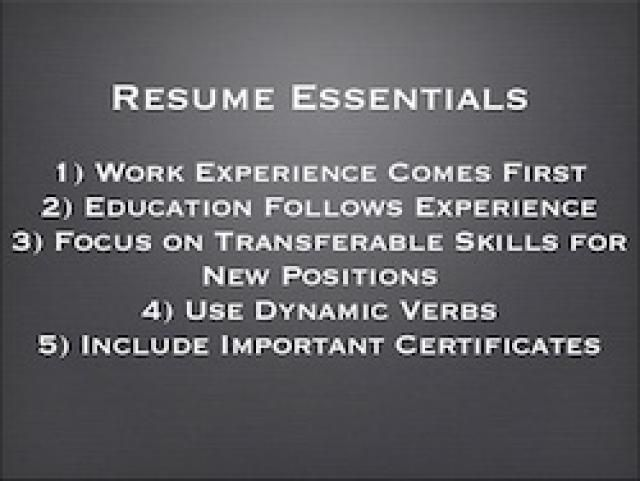 how to write a great resume in english