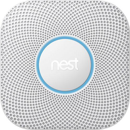 Nest - Protect 2nd Generation (Battery) Smart Smoke/Carbon Monoxide Alarm - White