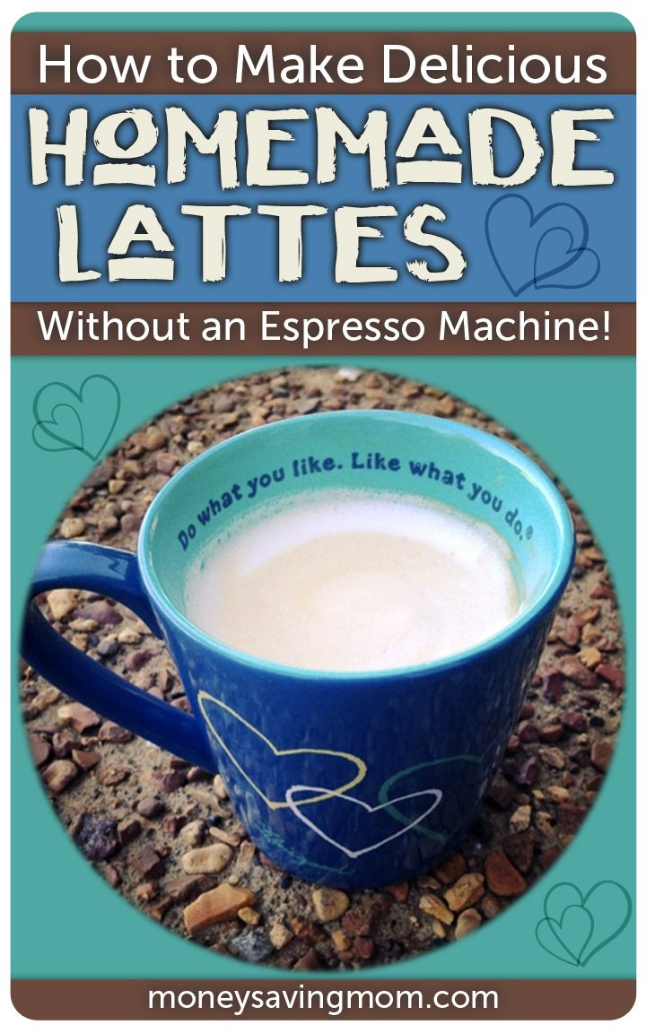 This recipe for Homemade Lattes is SO easy -- and it's incredibly delicious! Best of all, it doesn't require an expensive Espresso Machine to make!