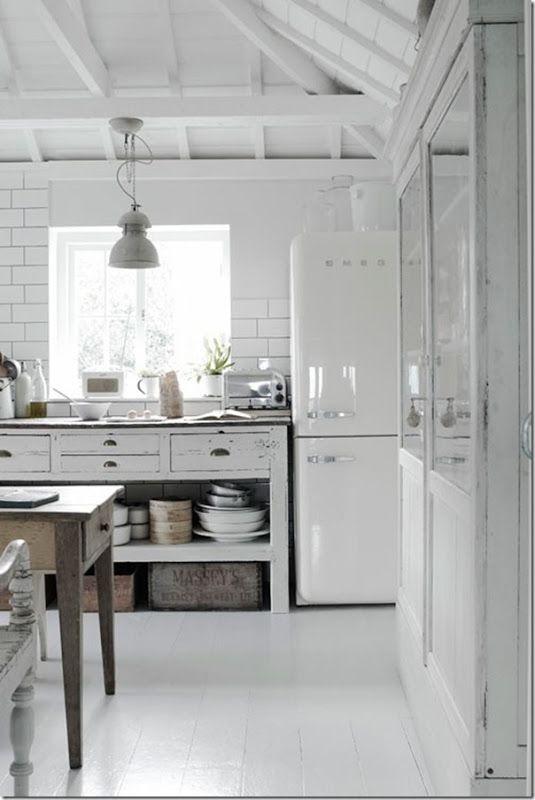 oltre 25 fantastiche idee su piccole cucine bianche su pinterest ... - Cucine Country Bianche
