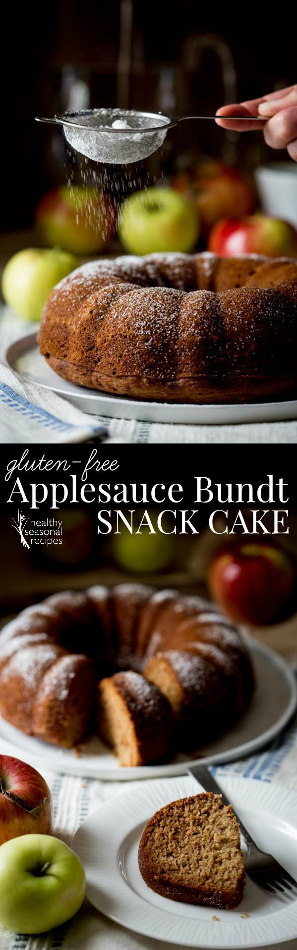 Blog post at Healthy Seasonal Recipes : This gluten-free applesauce bundt snack cake is one of those recipes I have made over and over again. It is made with brown rice flour (that[..]