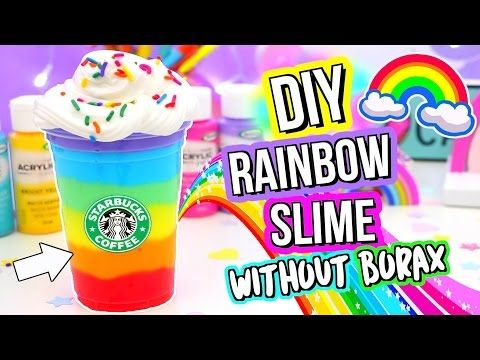 DIY Rainbow Slime! BEST Slime Recipe WITHOUT Borax! - YouTube