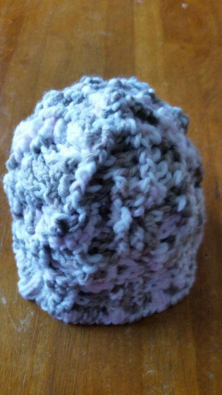 Crochet hat double strand,   thick as.